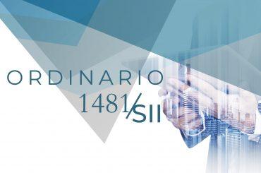 Ordinario 1481-01
